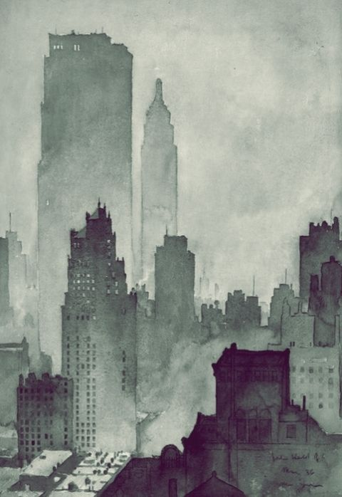 Watercolour City Obras De Arte Producao De Arte Arte Inspiradora