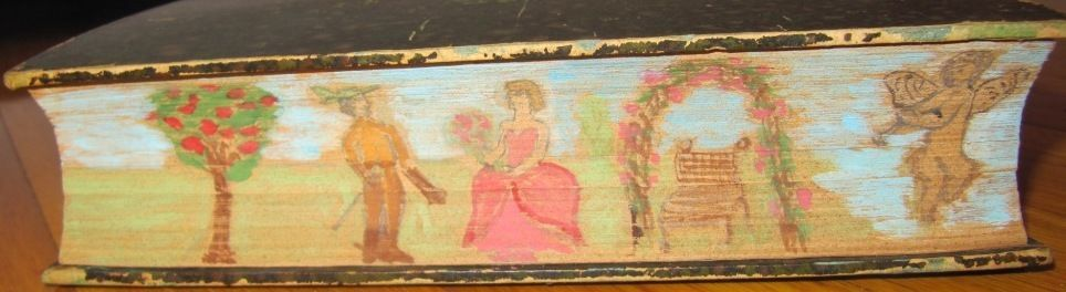 SCARCE ANGE PITOU BY A. DUMAS 1888 EARLY EDITION 2 VOLS NICE FORE EDGE PAINTING!