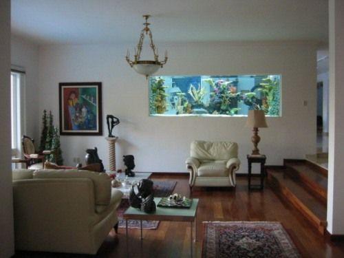 Un acuario en casa ideas para decorar dise os para - Pecera de pared ...