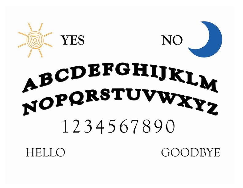 Printable Ouija Board Ouija Board Ouija Spirit Board