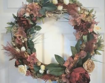 Photo of Boxwood Wreath, Hello Wreath, Greenery Wreath, Everyday Wreath, Year Round Wreath, Farmhouse Decor, Boxwood Door Wreath, Hello Wreath