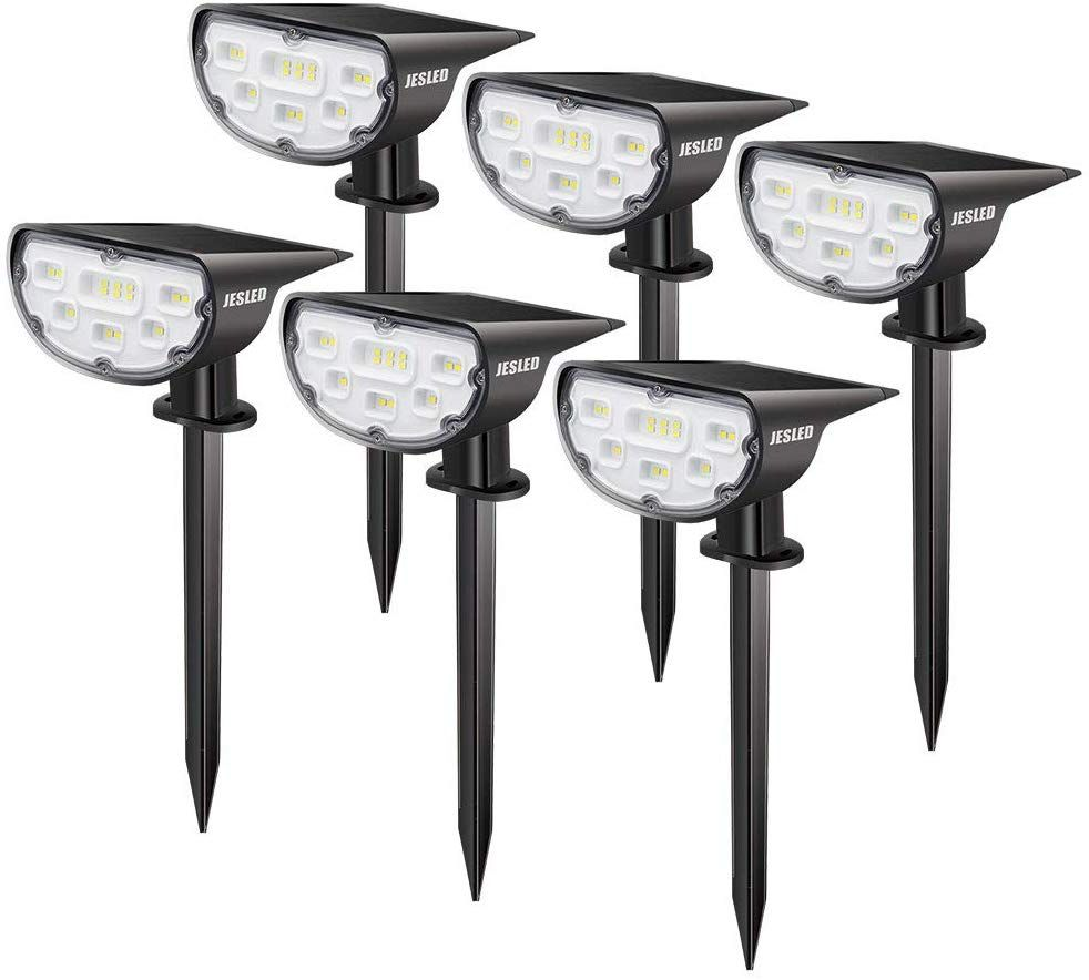 Jesled Solar Led Landscape Spotlights Outdoor Ip67 Waterproof Spot Lights Solar Powered Bright White 2 I Landscape Spotlights Outdoor Solar Solar Spot Lights