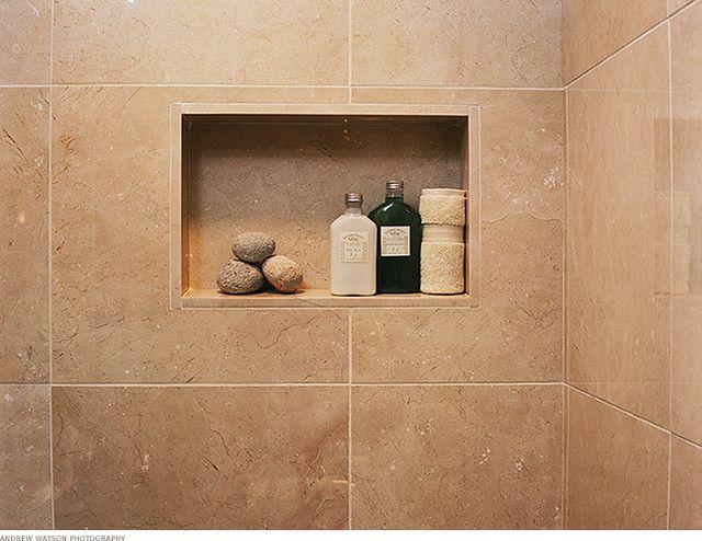 Contemporary Bathroom Niche bathroom : shower niche with large tile (contemporary bathroom