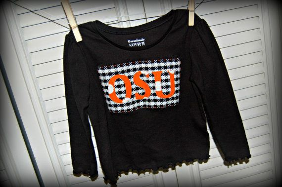 Oklahoma State Long Sleeve Toddler Shirt by WhiteKottage on Etsy, $15.00