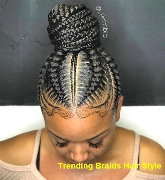 Tribal Braids Afro Puff #BraidedHairstyles
