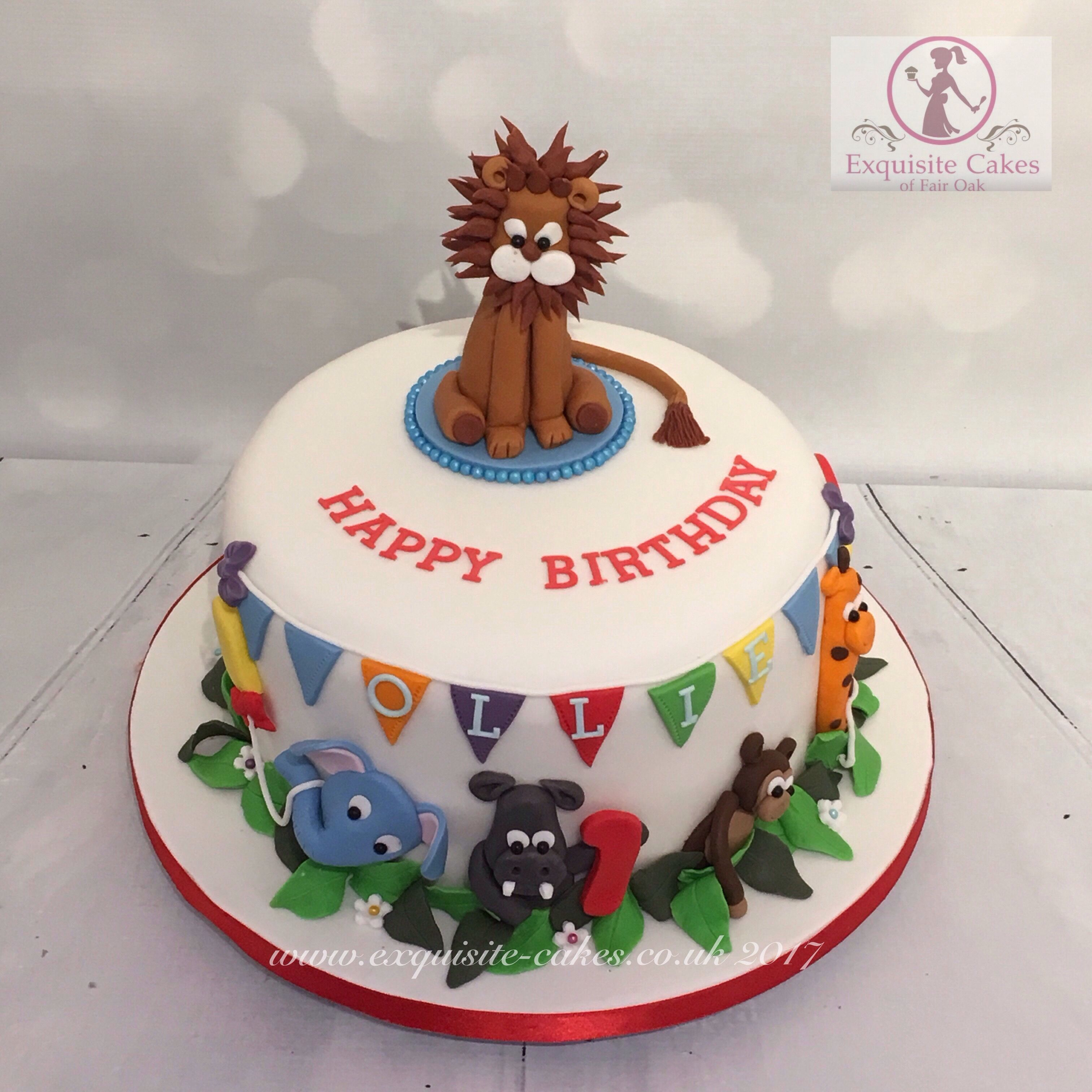 Zoo Animal 1st Birthday Cake Exquisite Cakes Made By Me