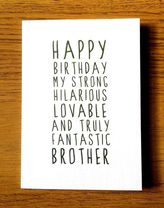 Card for brother birthday cards invitations and gift tags sweet description happy birthday brother by littlemushroomcards m4hsunfo