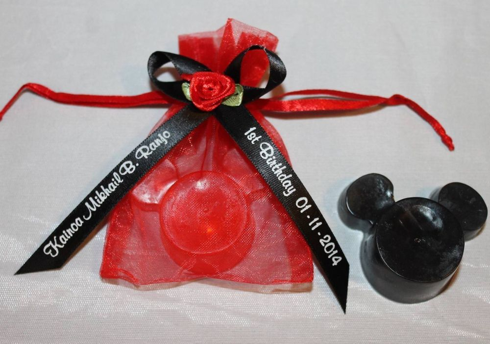 Complete Mickey Mouse Soap Wedding Party Favor Bridal Shower Personalized Free AmysBubblingBoutique WeddingBridalShower