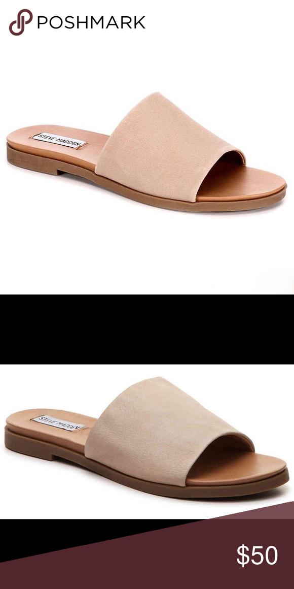 "49bb544faf1 Steve Madden ""Karolyn"" flat sandal Leather upper"