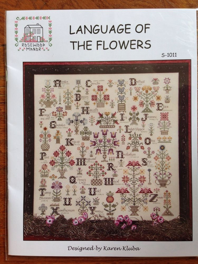 rosewood manor cross stitch pattern language of the