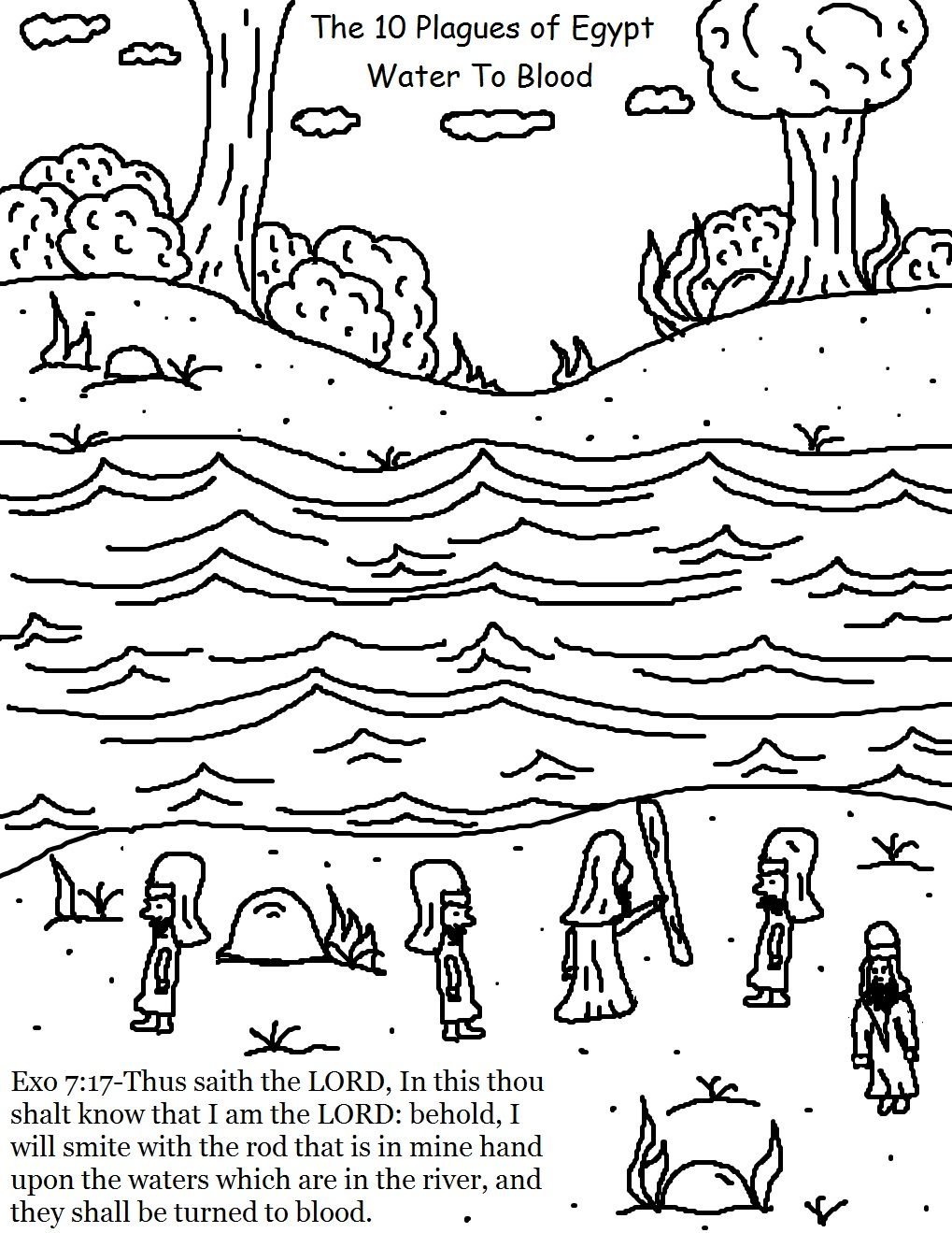 Moses Plagues Plagues Of Egypt 10 Plagues Coloring Pages