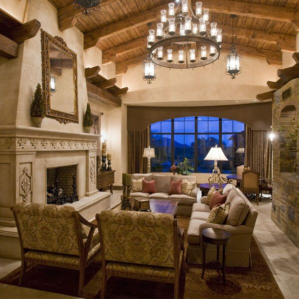 Tuscan Inspired Living Room: Interiors - Kitchen / Dining