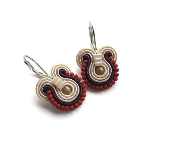 Red pepper earrings neutral eco earrings natural by mintESSENCE, $34.00