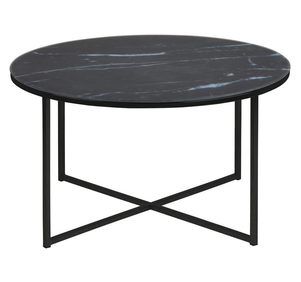 Table Basse Ronde En Verre Design Table Basse Ronde En Verre Et Métal Noir Collection Alisma En