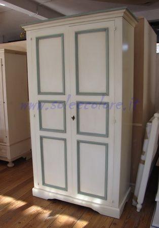 ARMADIO RUSTICO - armadio in legno bianco antico decape ...