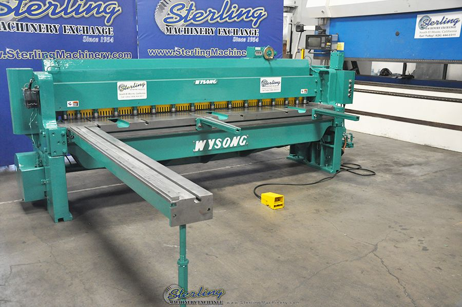 Used Wysong Power Shear Sterling Machinery Hydraulic Press Brake Press Brake Metal Working