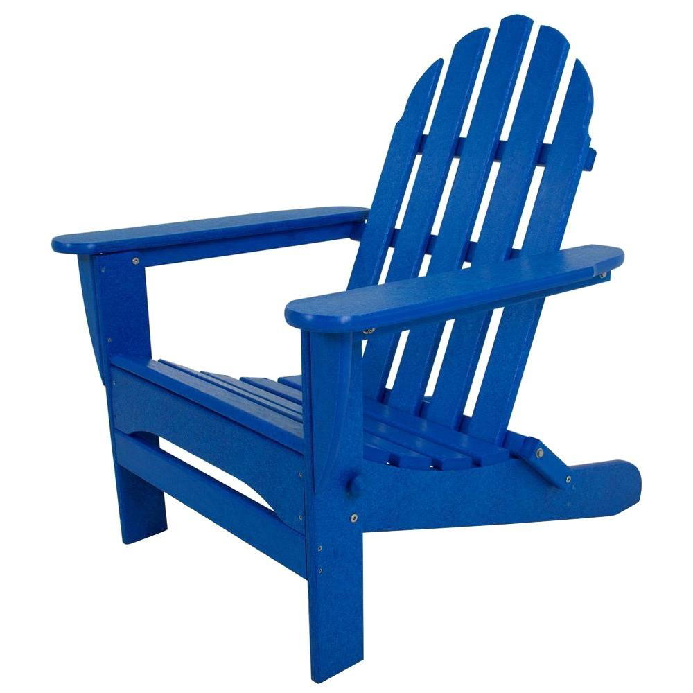 POLYWOOD Classic Pacific Blue Patio Adirondack Chair | Products
