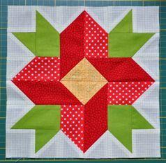 """Лоскутный блок """"Цветок"""" - Страна Заиголье - Форум """"Акуна матата"""": рукоделие, вышивка, схемы для вышивки, сад и огород, проза."""