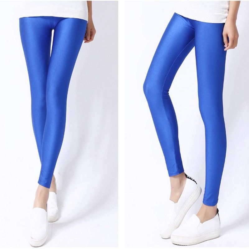 1ff6a1d24b87fd 5 Color Women Leggings Faux Leather Nylon High Quality Slim Leggings Plus  Size High Elasticity Sexy Pants Leggins Free Size