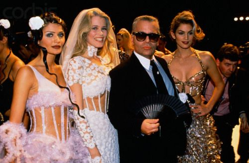Chanel Haute Couture spring 1993, backstage