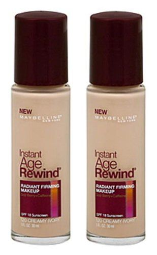 Maybelline New York Instant Age Rewind Radiant Firming Makeup Creamy Ivory 120 1 Fluid Ounce Pack Of 2 Learn More By V No Foundation Makeup Age Rewind Makeup