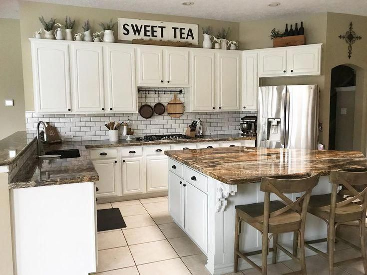 10 New Ideas for Decorating Above Your Kitchen Cabinets # ...