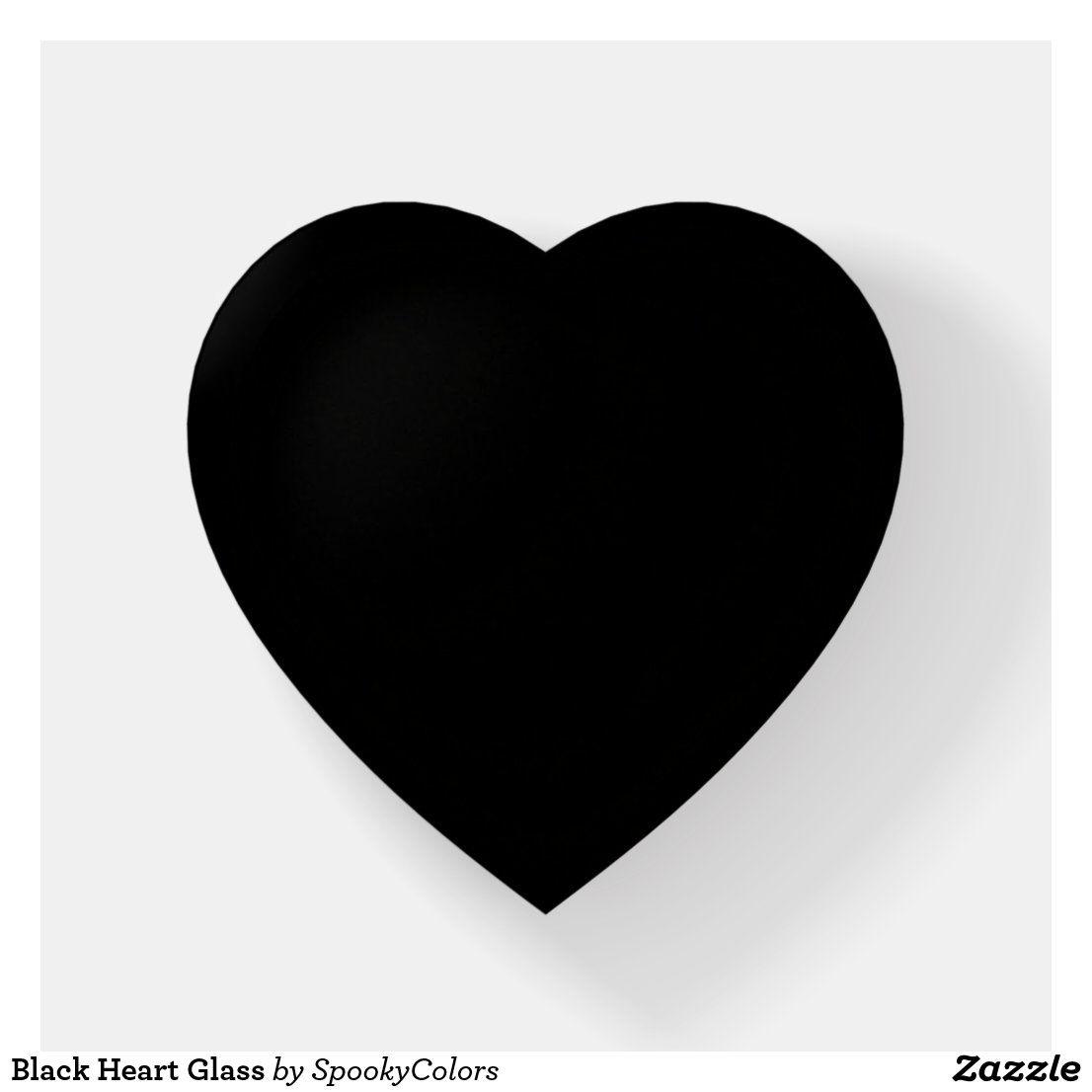 Black Heart Glass Paperweight