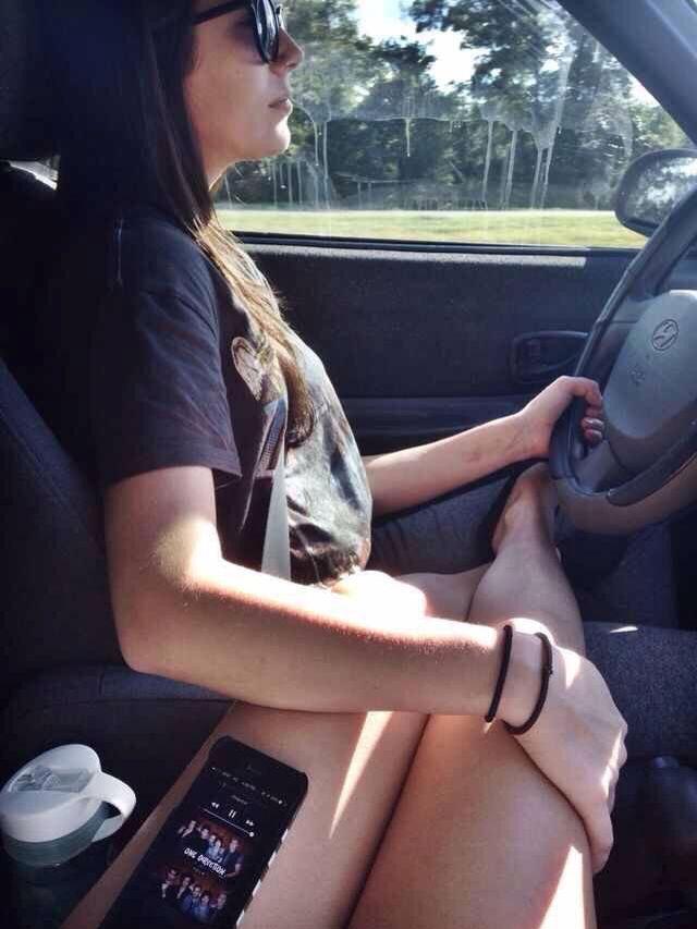 Lesbian in car