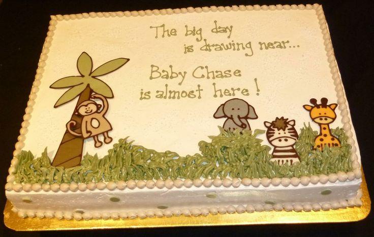 Baby Shower Cakes Baby Shower Cake Sayings Animal Theme Sarahs