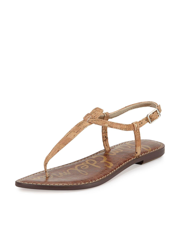51afc2bd6 Gigi Flecked Cork Flat Thong Sandal