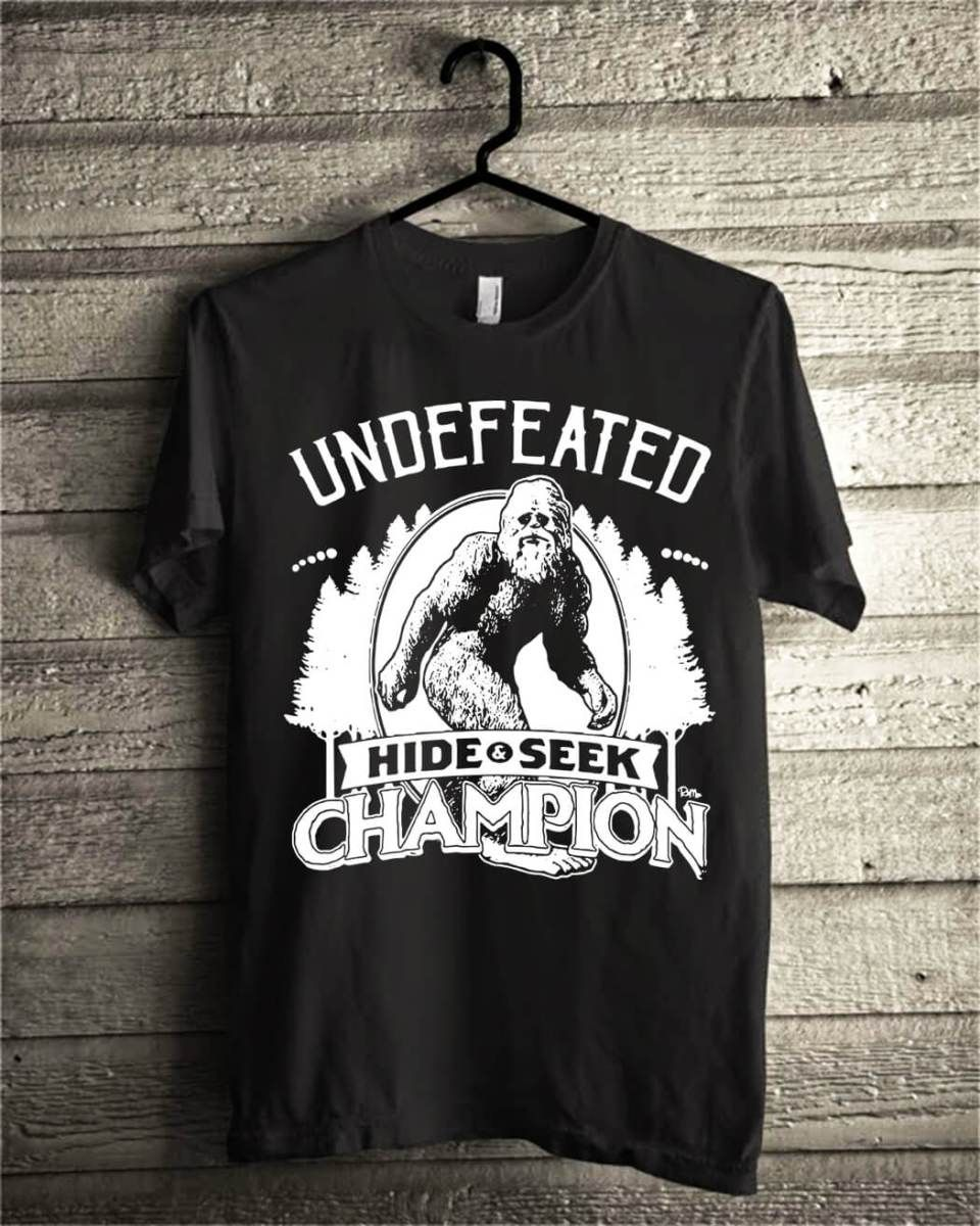 c4a7dc85 Official Bigfoot undefeated hide and seek champion shirt | Official ...