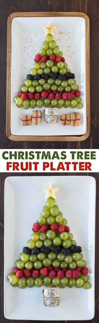 Christmas Tree Fruit Platter | The First Year