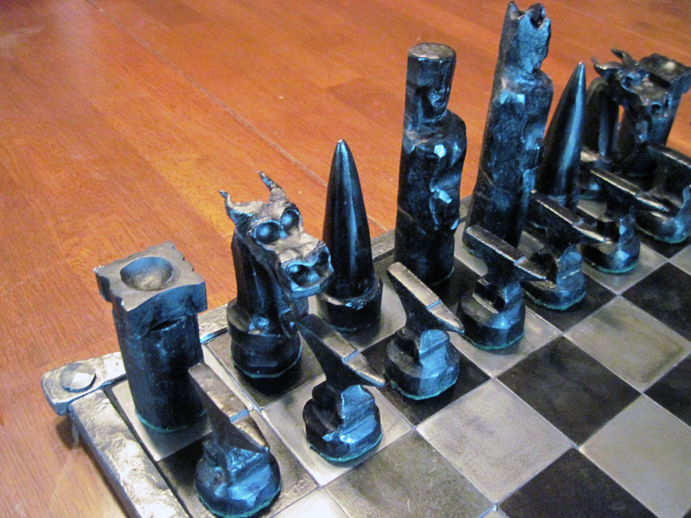 projects ideas metal chess pieces. Chess Set Black  Blacksmith ideas Pinterest sets