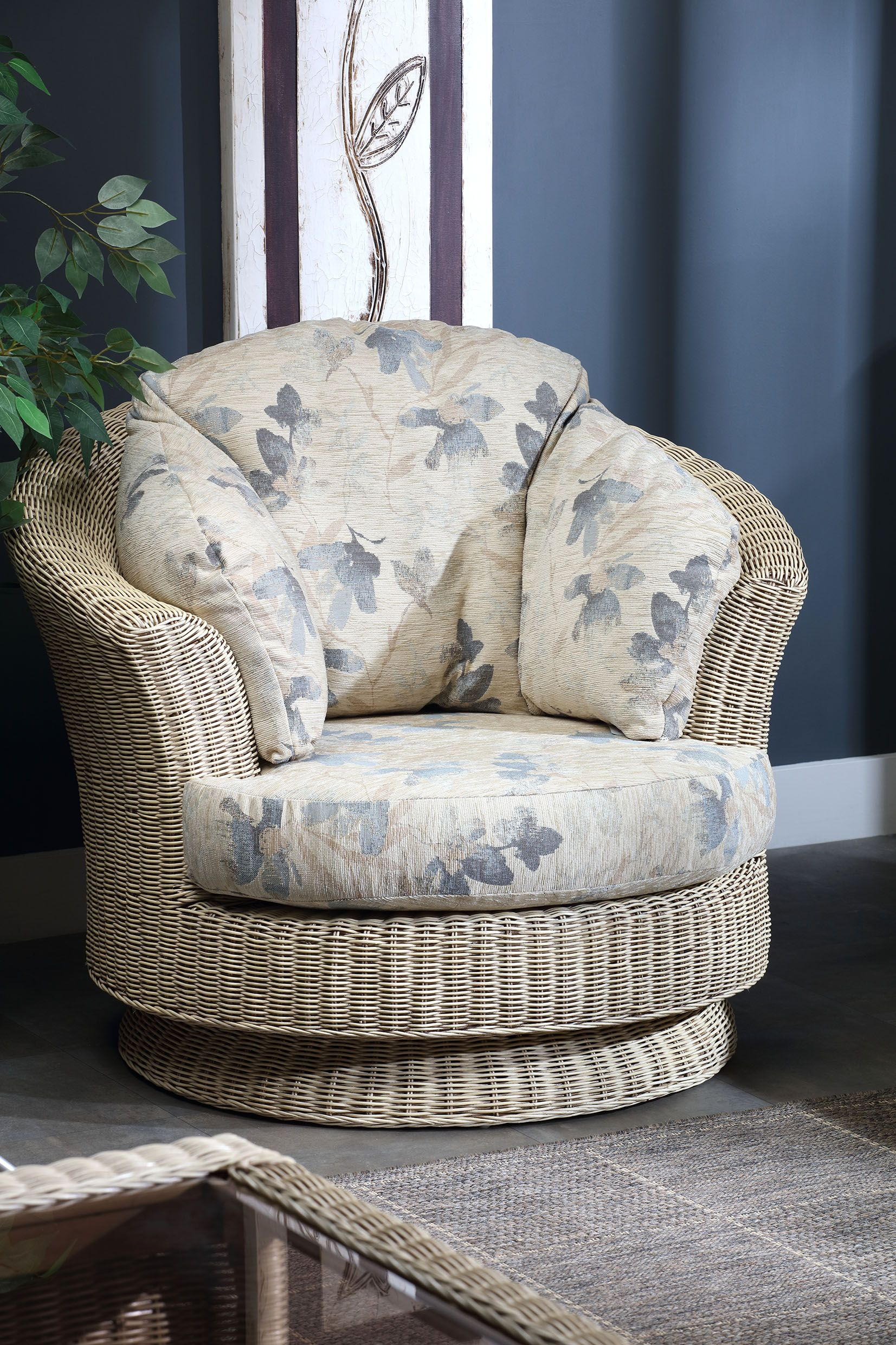 Every item on this page was curated by an elle decor editor. Indoor Outdoor Furniture | Wicker swivel chair, Interior ...