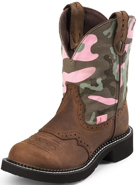 Justin Boots Western Gypsy Collection L9913  Pink Camo/Aged Bark, $87.00