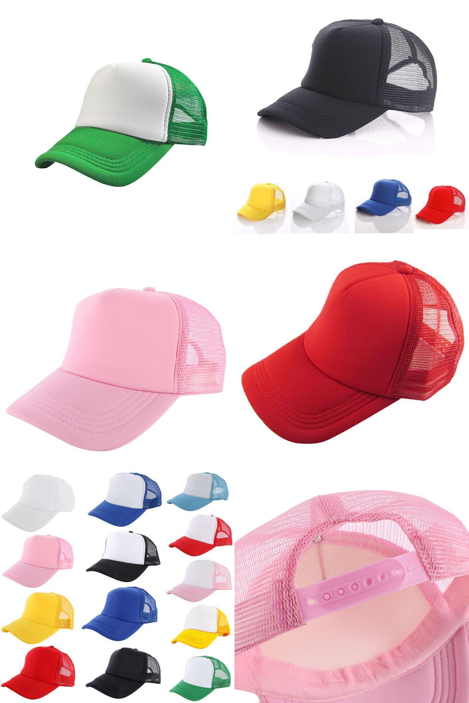 Visit to Buy  M34 Vogue Adjustable Baseball Cap Trucker Hat Blank Curved  Hat Mesh 5f28158a37de