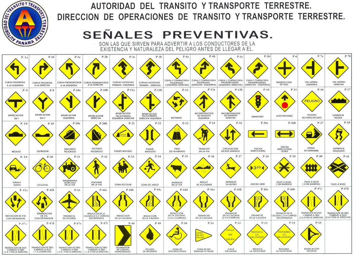 Resultado De Imagen Para Imagenes De Señales De Transito En Panama Y Su Significado Autoridad Del Transito Y Transporte Ter Education Word Search Puzzle Words