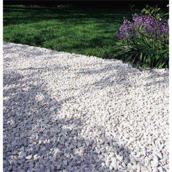 Graviers Marbre Concasse 8 16mm Couleur Blanc Leroy Merlin Amenagement Jardin Galet Marbre Blanc Terrasse Gravier