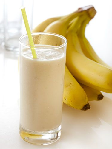 """""""It is so refreshing and it's sweet and tasty.""""  Ingredients     2 bananas, broken into chunks   2 cups milk   1/2 cup peanut butter       2 tablespoons honey, or to taste   2 cups ice cubes    Directions     Place bananas, milk, peanut"""