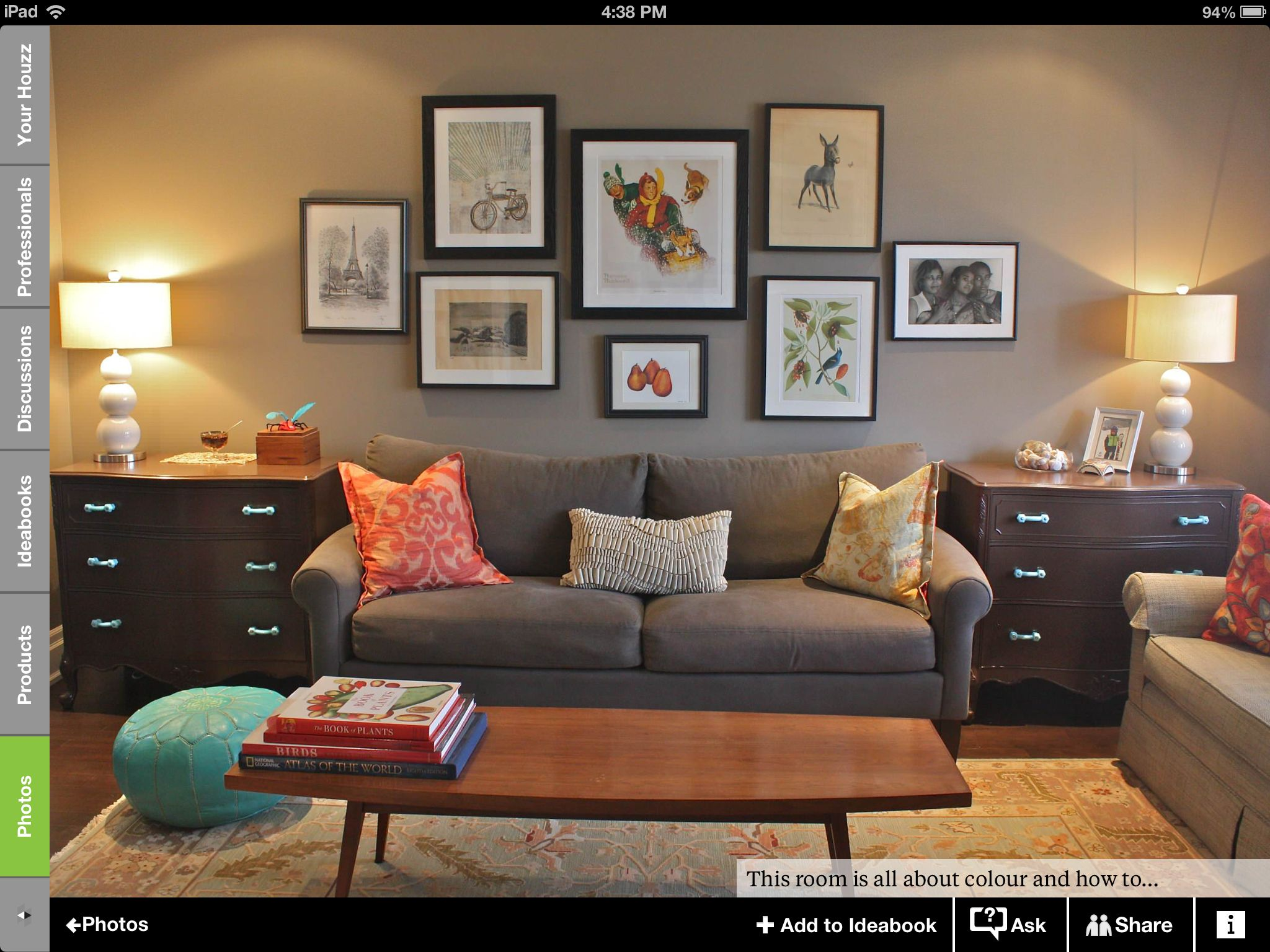 Merveilleux Colors Are Nice. I Like The Coral Pillow Against The Neutral Sofa And  Walls. Also Repeated In The Stack Of Books And Rockwell Pic.