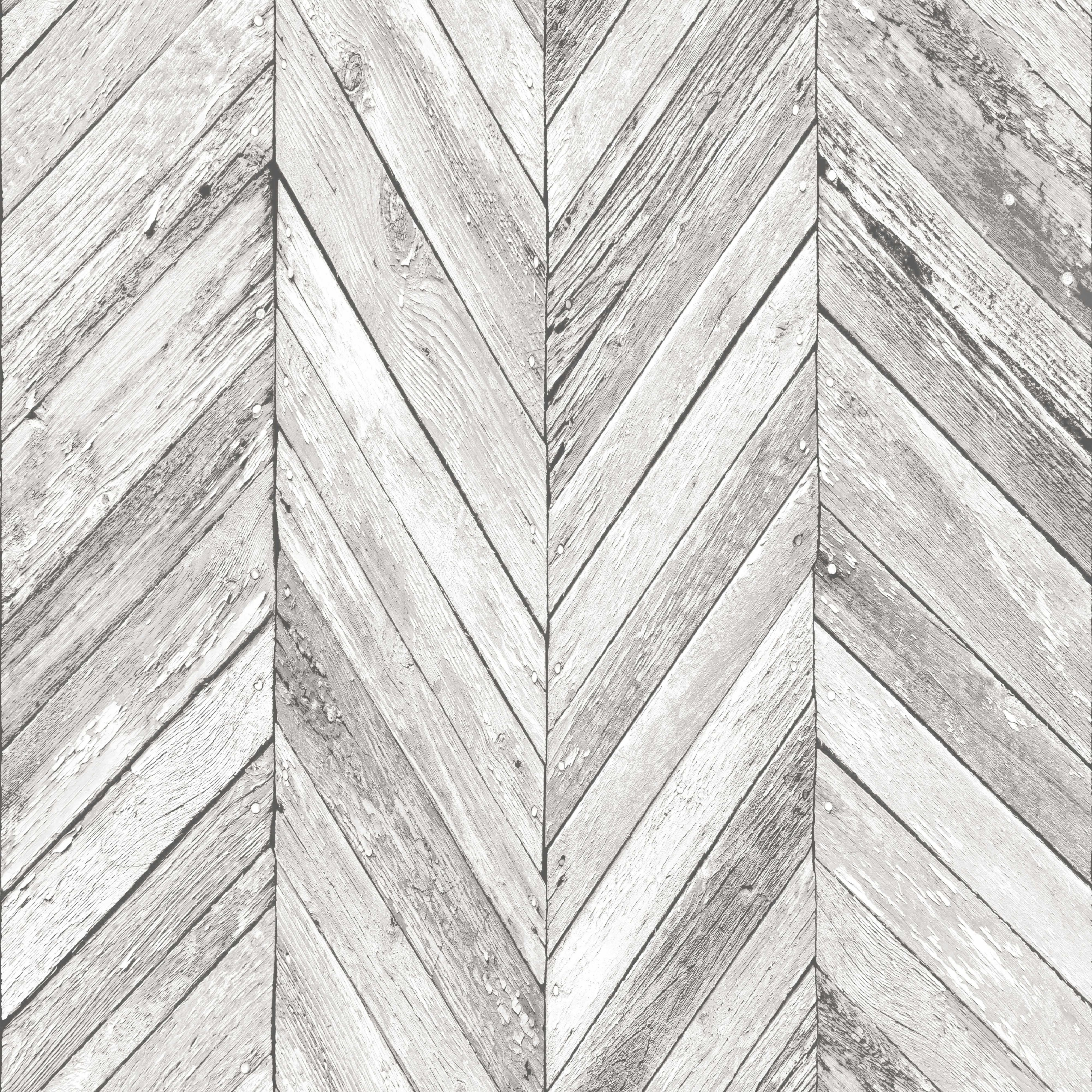 Grey Herringbone Wood Wallpaper Departments Diy At B Amp Q