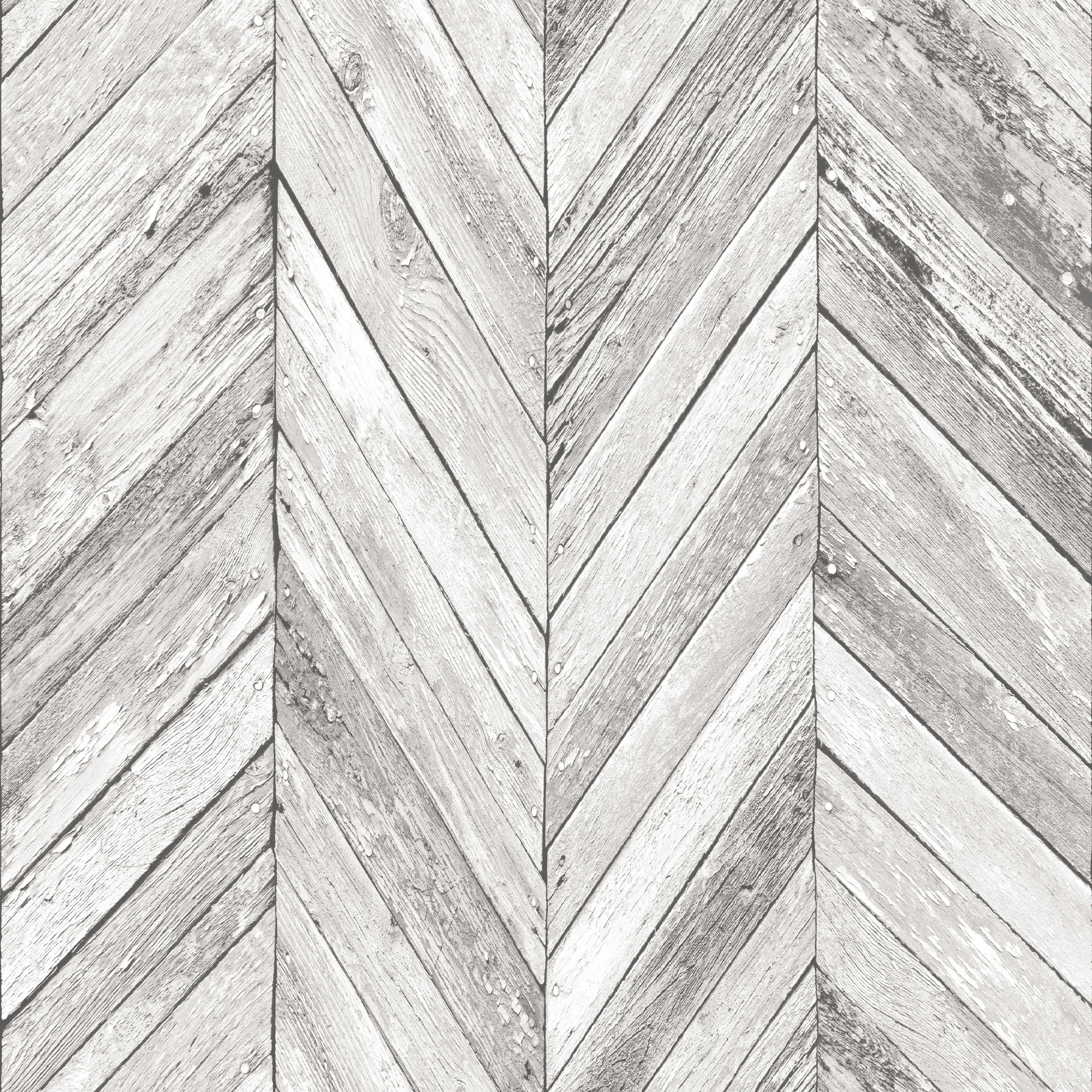 Graham amp brown fresco grey herringbone wood wallpaper