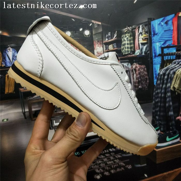 sports shoes 70dc3 ff4b8 2018 New Release Nike Classic Cortez 72 SP Leather Womens Trainers White  Black Brown On Sale