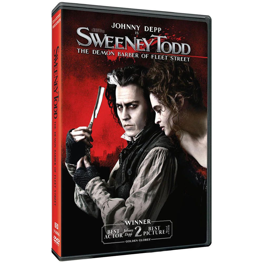 Sweeney Todd The Demon Barber Of Fleet Street 2007 Dvd Tim Burton Johnny Depp Sweeney Todd Johnny Depp Tim Burton Movie