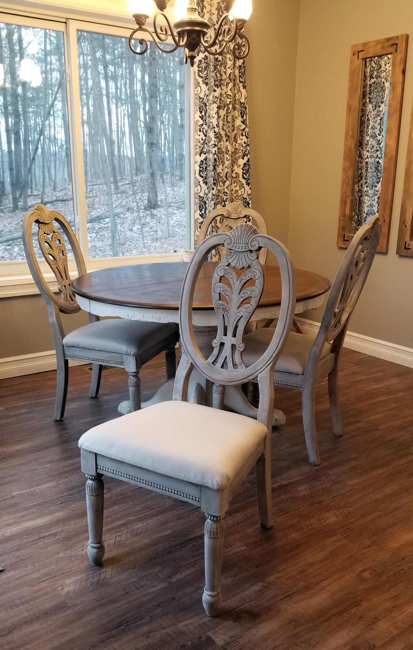 Whitewashed Dining Chair Makeover Grey Dining Room Chairs Whitewashed Chairs Painted Chairs Dining Room