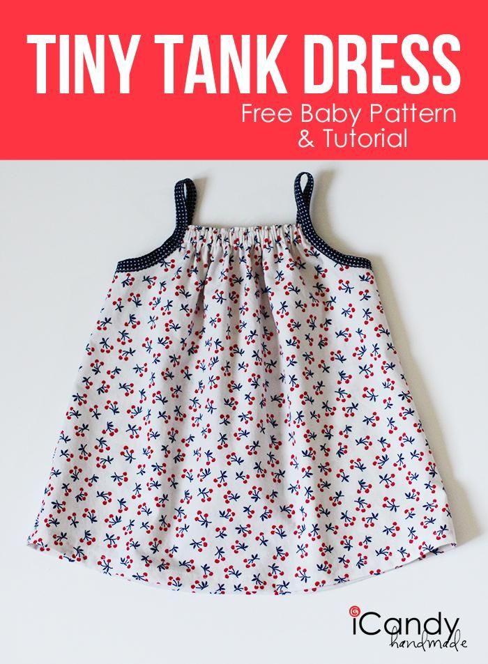 DIY Baby Girl Dress : DIY Tiny Tank Dress | Traje Niña | Pinterest ...