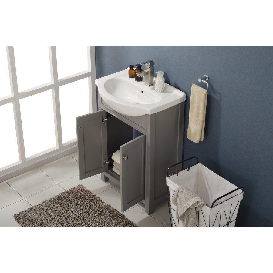 Design Element 24 Inch Marian Single Sink Bathroom Vanity Gray S05 24 Gy Single Sink Vanity Vanity Sink Single Bathroom Vanity