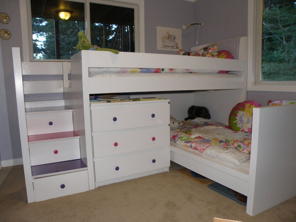 ikea hackers malm toddler bed under malm inspired bunk. Black Bedroom Furniture Sets. Home Design Ideas