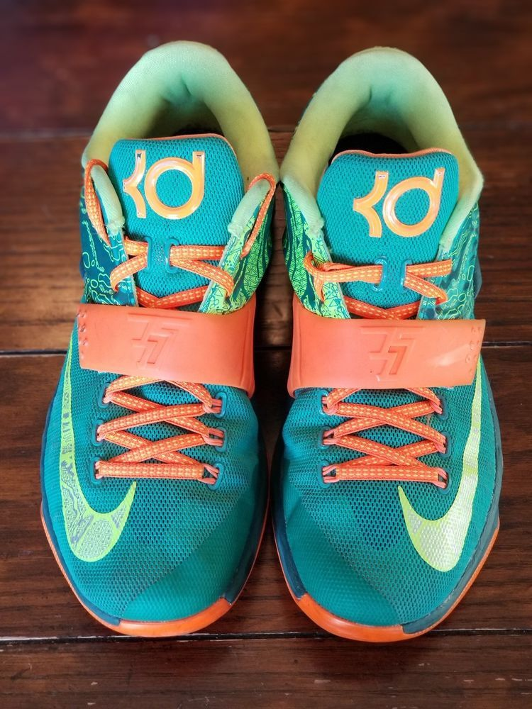 finest selection fd177 51060 Nike KD Kevin Durant VII 7 Weatherman Mens Size 9 Emerald Green 653996-303  shoes
