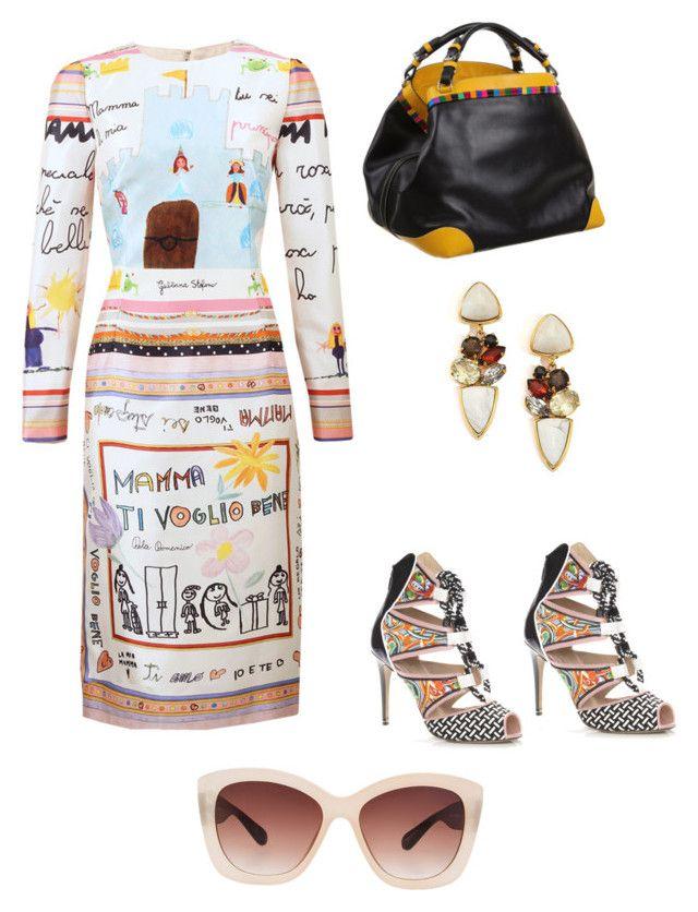 """Suave"" by rosania-gsrq on Polyvore featuring moda, Dolce&Gabbana, Peter Pilotto, Lizzie Fortunato, Caroline De Marchi e Eloquii"